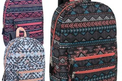 Liquidation Lot: 24 x 18 Inch Graphic Backpack With Double Front Pocket Girls