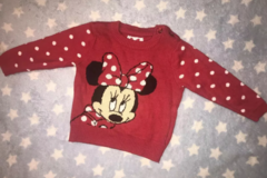 Selling with online payment: Baby girl Minnie Mouse Jumper, age 3-6 Mths