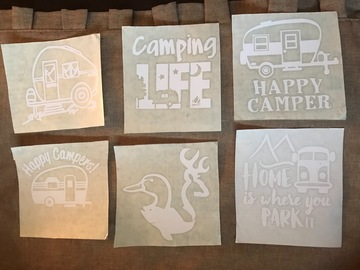 Buy Now: 100 x 4 Inch Camping Decals For Car Windows or Bumper