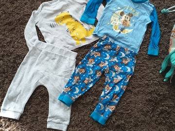 Selling with online payment: Pjs and sleepsuits, age 6-9 Mths