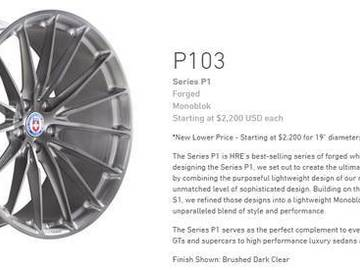 "Selling: HRE P103 20"" Wheels for BMW F3X with Michelin PS4S Tires"