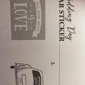 Ilmoitus: Hääauton tarra (käyttämätön/uusi)