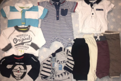 Selling with online payment: Baby boy clothes bundle, age 0-3 months