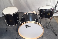 Selling with online payment: Gretsch USA Custom Black Sparkle 24, 13, 16 w Drop G badge 2000s