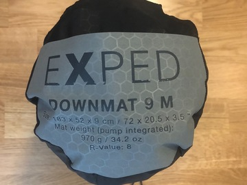 Til leie (per natt): Exped downmat 9