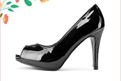 Liquidation Lot: 36 Pairs of Classic Black High Heels Shoes. $1.50 Each