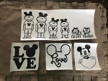 Buy Now: Disney Vinyl Decals For Car Window Or Bumper Tailgate