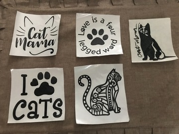 Buy Now: Cat Vinyl Decal Stickers For Car Windows Bumpers or Tailgate