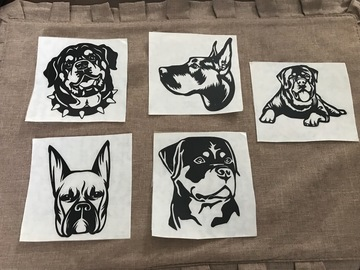 Buy Now: Dog Vinyl Decal Stickers For Car, Bumper, Laptop Case