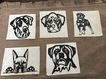 Buy Now: Dog Vinyl Decal Stickers For Car Window, Bumper, Laptop Case