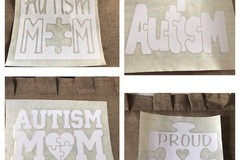 Liquidation Lot: Autism Vinyl Decals For Car Windows, Bumpers And Tailgates