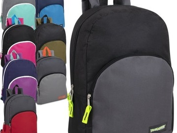 Liquidation Lot: 24 x 15 Inch Promo Backpacks - 8 Assorted Colors