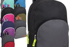 Liquidation Lot: 24 x 15 Inch Promo Backpacks - 8 Assorted Colors