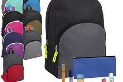 Liquidation Lot: 24 x Preassembled Backpack + 12 Piece School Supply Kits