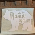 Liquidation Lot: Mama Bear Decals . 6 Pretty Designs. 60  Pieces Total