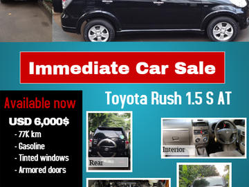 Selling: Toyota Rush