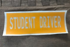 Liquidation Lot: New Student Driver Decal Sticker Provide Caution To Others