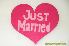 Ilmoitus: Just married- kyltti