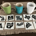 Liquidation Lot: State Decals For Mugs. 10 State Designs. Great items.
