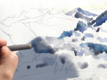 Workshop Angebot (Termine): AQUARELLIEREN IN HOCHALPINEM PANORAMA 4 TAGE