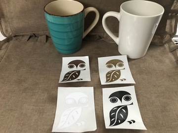 Buy Now: 80 Owl Decals. Great Colors! Use on Decor, Mugs, Signs, Car