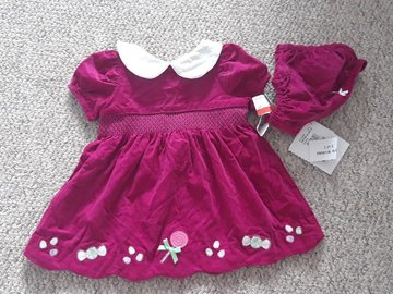 Selling with online payment: Hartstrings Dress, BNWT, age 3-6 Mths