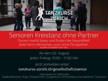 Workshop Angebot (Termine): Senioren Kreistanz ohne Partner