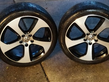 Selling: VW GTI OEM Austin wheels and tires, no curb rash, 6100mi on tires