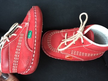 Selling with online payment: Dark red infant kickers, size 4 / 20