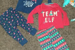 Selling with online payment: 2 pairs of Christmas pjs, age 6-9 Mths