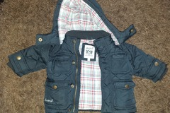 Selling with online payment: Junior j coat, age 3-6 Mths