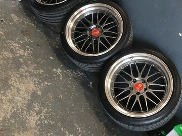 Selling: Staggered BBS LM 20 Inches with NEW tires