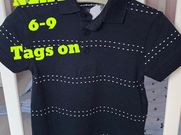 Selling with online payment: NEXT polo shirt, 6-9 Mths