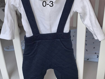 Selling with online payment: Boys outfit, age 1-3 Mths