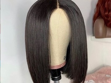 Selling with online payment: 12 inch straight bob full lace wig