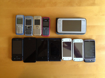 Annetaan: Old cellphones