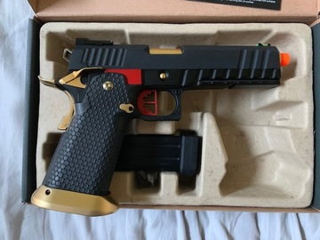 "Selling: AW Custom ""Competitor"" Hi-CAPA Gas Blowback Airsoft Pistol"