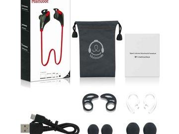Buy Now: (50) Bluetooth Headphones Mainuode M1 V4.1 In Ear Earphones