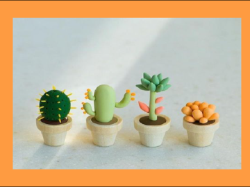 Group class : Clay Modeling 101 - Make your own little garden in a garden oasis