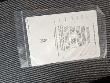 Selling with online payment:  Amsler grid/near card still in package