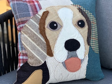 Selling: Beagle Dog Pillow, Pet Pillow, Dog Decor, Dog Lover Gift, Cushion
