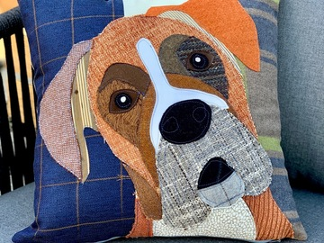 Selling: Box Dog Pillow, Pet Pillow, Dog Decor, Dog Lover Gift, Cushion