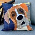 Selling: Box Dog Pillow, Pet Pillow, Dog Decor, Dog Lover Gift, Cushion