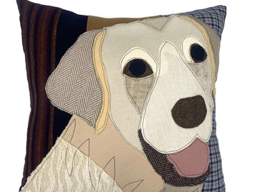 Selling: White Labrador Dog Pillow, Pet Pillow, Dog Decor, Dog Lover Gift,