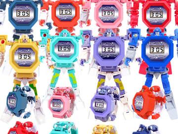 Liquidation Lot: 750 pcs mixed lot brand new Transform Robot Watch