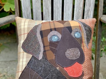 Selling: Chocolate Labrador Dog Pillow, Pet Pillow, Dog Decor