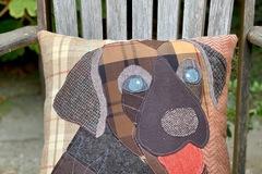 Selling: Chocolate Labrador Dog Pillow, Pet Pillow, Dog Decor
