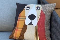 Selling: Basset Hound Dog Pillow, Pet Pillow, Dog Decor, Dog Lover Gift
