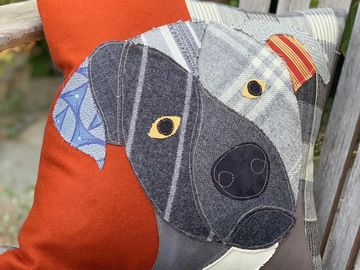 Selling: Black Labrador Dog Pillow, Pet Pillow, Dog Decor, Dog Lover Gift