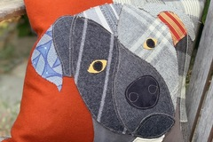 Selling: Black Labrador Dog Pillow, Pet Pillow, Dog Decor, Dog Lover Gift